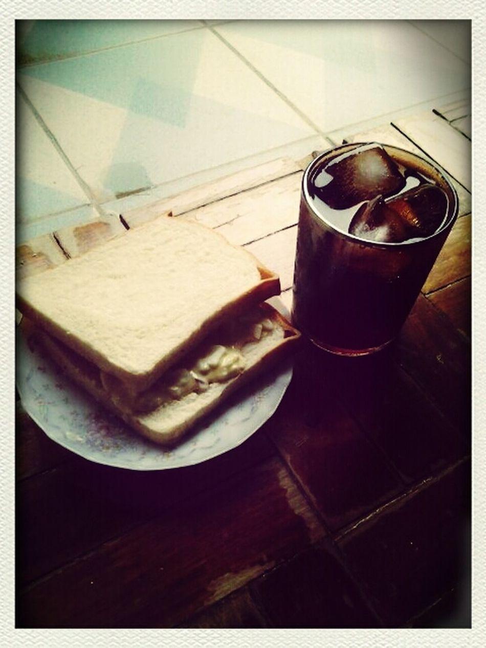Egg Sandwich and Cokeee! Eyeem Philippines EyeEmBestPics