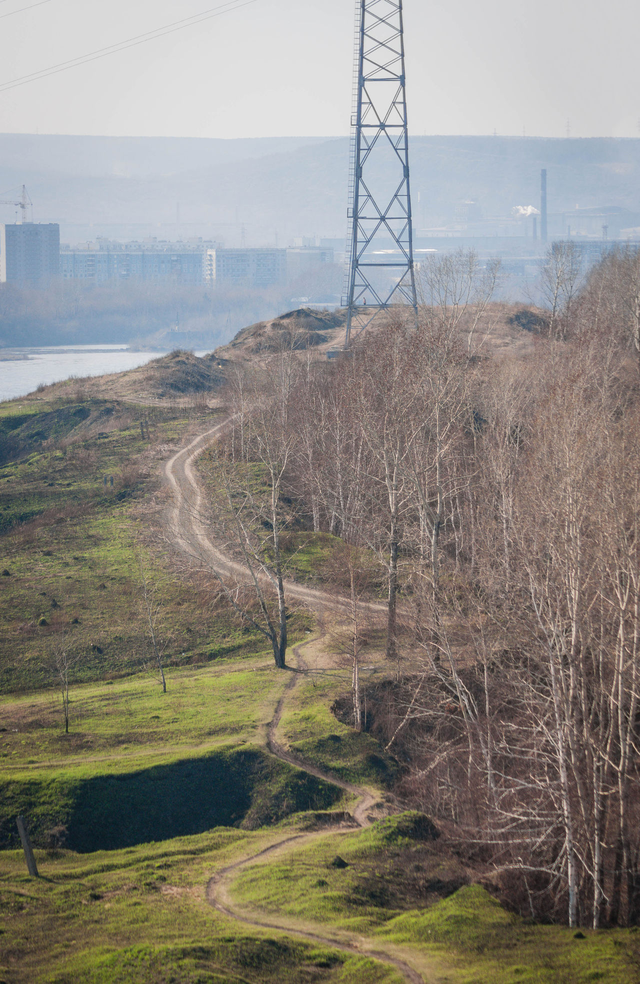Electric Tower  Path River Coast The Great Outdoors - 2015 EyeEm Awards Novokuznetsk Kuzbass Siberia Russia