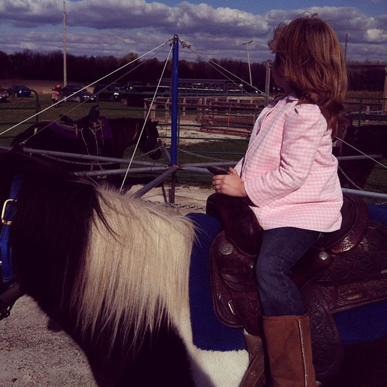 Beautiful Daughter Ponyrides Fall love