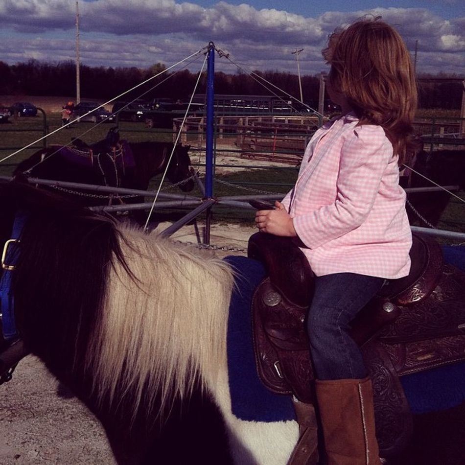 Beautiful Daughter Ponyrides Fall love