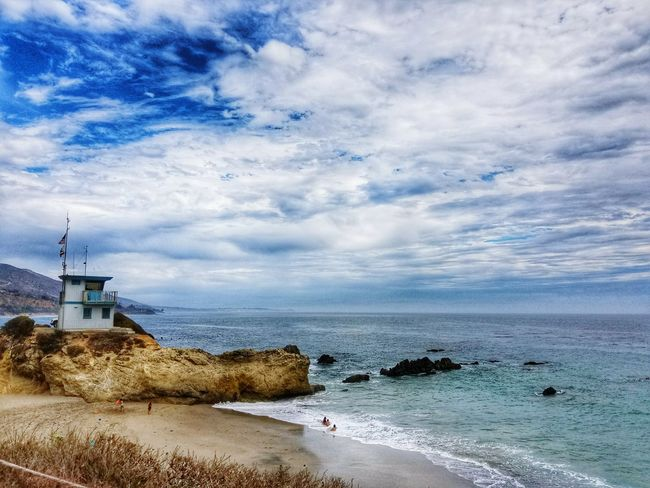 How deep is your love Deep As The OceanOcean View Malibu Leo Carrillo Beach On A Cliff Tranquil Scene Coastline Beauty In Nature Cloudy Overcast Skies California Camping Trip Note 7 Lifeguard Tower Peaceful View