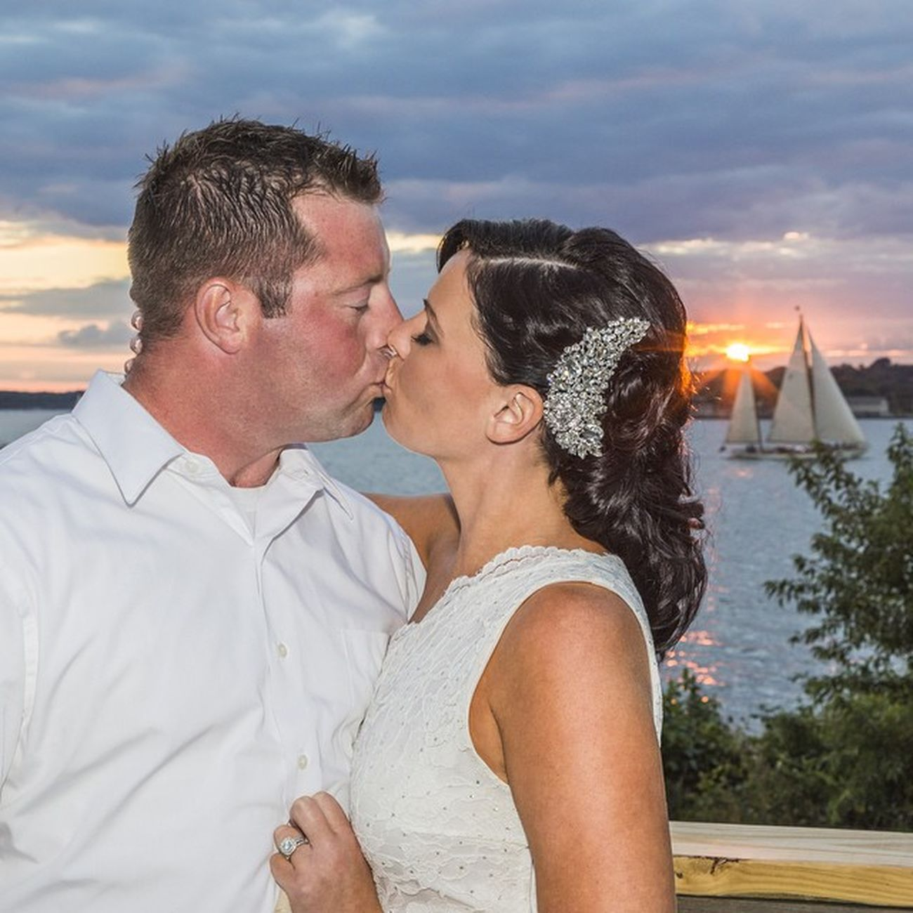I have the best job!! 100happydays Day88 Lovemyjob Lovemyclients photogtapher fortadams newport newportri wedding love marriage happiness couple bestfriends truelove sunset summer summerwedding sailboat clouds sun kiss