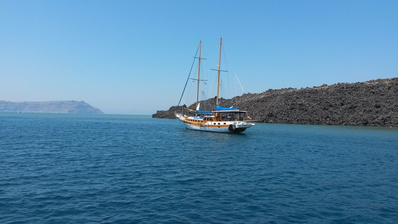 Beautiful stock photos of greece, Beauty In Nature, Boat, Clear Sky, Day