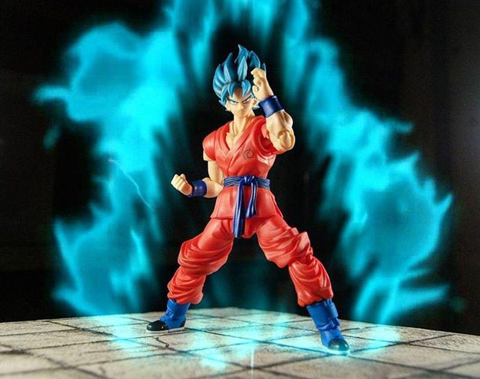 Super saiyan god super saiyan! A bit redundant. Goku Supersaiyanblue SuperSaiyanGodSuperSaiyan Shf Shf_ph Dragonballsuper