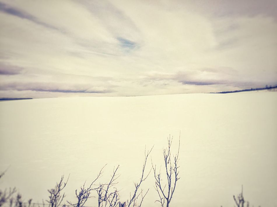 Sky Nature Tranquility Beauty In Nature Tranquil Scene Scenics Outdoors No People Cloud - Sky Day Snow Mobile Photography