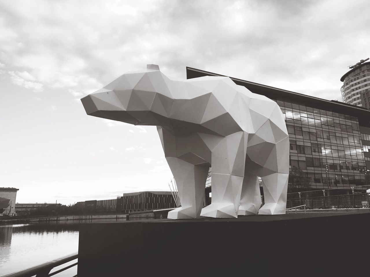 Mediacityuk Built Structure Quaysculture Outdoors Low Angle View No People Sky Manchester Projection