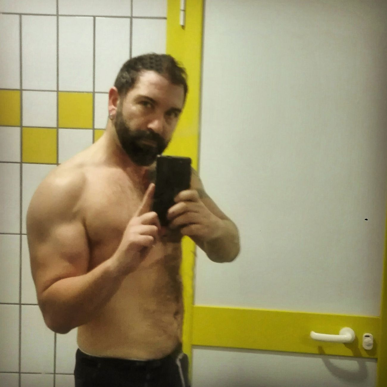 Me Selfie Time Enjoying Life Self Selfie ♥ That's Me Beardporn Sexyselfie Gymselfie Gym! Beard Beardlife Beardstyle Beardman