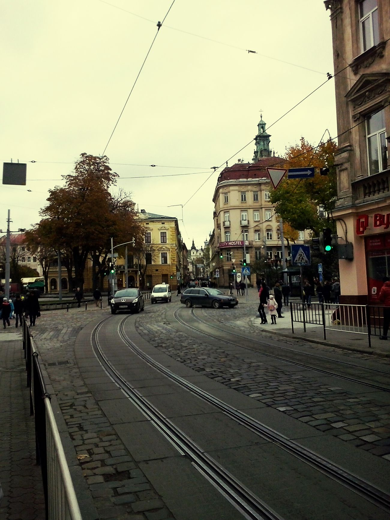Enjoy The New Normal Lviv, Ukraine City Street City Street Sky Railroad Track Building Exterior Outdoors Architecture Built Structure No People Public Transportation Day LvivUkraine Lvivforyou Good Trip Good Travel Car Train Adapted To The City Miles Away