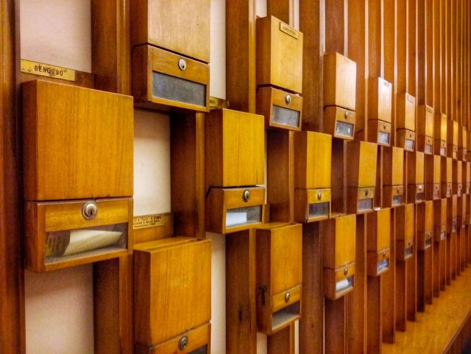 Infinity Mailboxes Rack '70 Style Palermo Sicily Italy