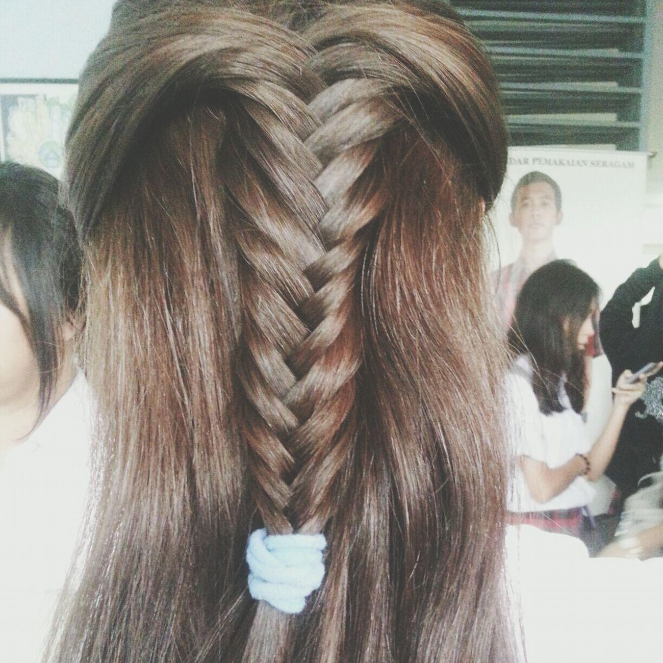 half fish tail braid by me Hair Fishtail Braid Portrait Hairstyle
