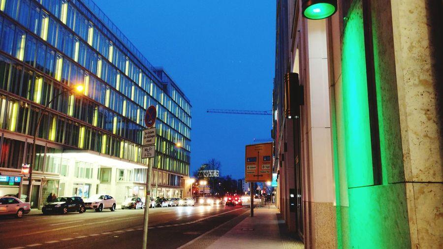 Beautiful and rushing Berlin City Street Illuminated City Street First Eyeem Photo