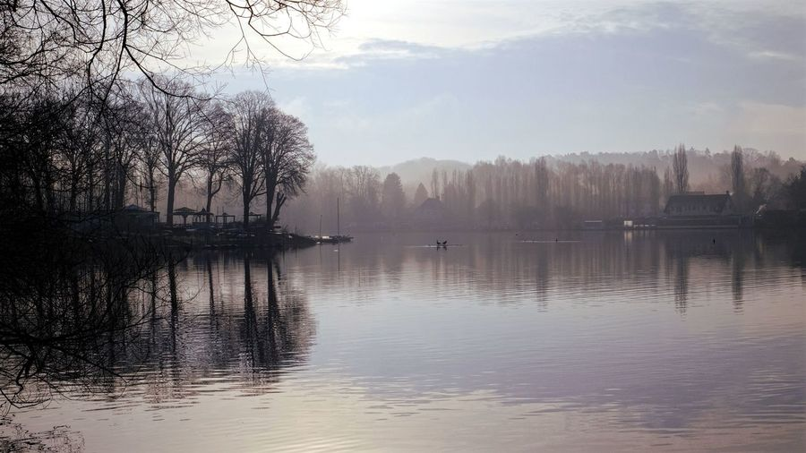 """""""The window has a wonderful view of a lake, but the view doesn't view itself. It exists in this world colorless, shapeless, soundless, odorless, and painless."""" -- Wisława Szymborska A view to Lake Genval in the evening - Bare Tree Beauty In Nature Calm Evening Genval Idyllic Lake Nature Non-urban Scene Outdoors Reflection Rippled Scenics Silhouette Sky Sunset Tranquil Scene Tranquility Tree Water Waterfront Landscapes The Great Outdoors With Adobe Feel The Journey"""