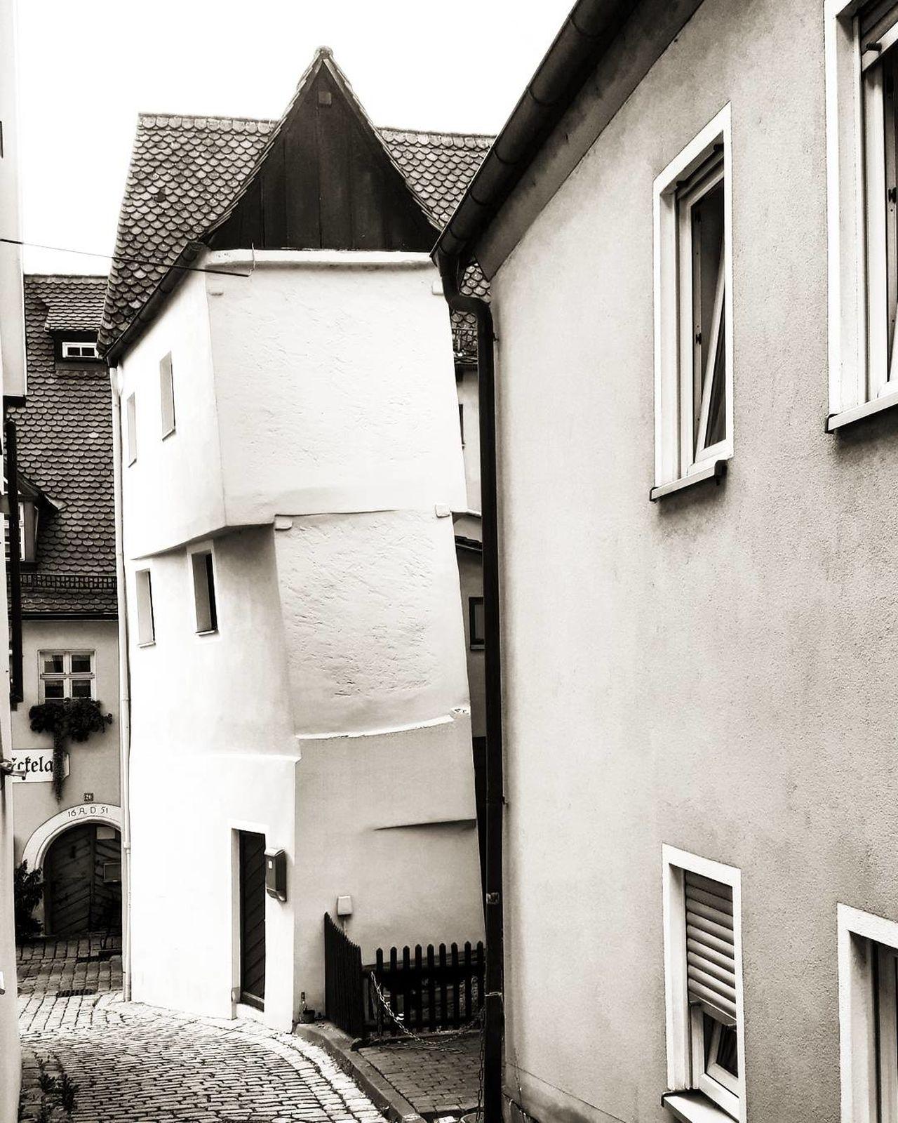 Crooked House Architecture Architektur Bavaria Bayern Blackandwhite Bnw Crook Crooked Crookedhouse Deutschland Franconia Franconianswitzerland Franken Germany Grafenberg Haus House Houses Häuser Krumm Krummeshaus Monochrome No People Schief SchiefesHaus