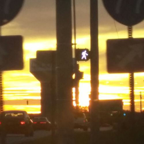 Travel-road trip-exit-interstate-dusk-driving-riding-street photos-city life- sunset- driving-traffic- cars- crosswalk- Scenics -time To Go-way Out Outdoors Front View The Street Photographer - 2017 EyeEm Awards