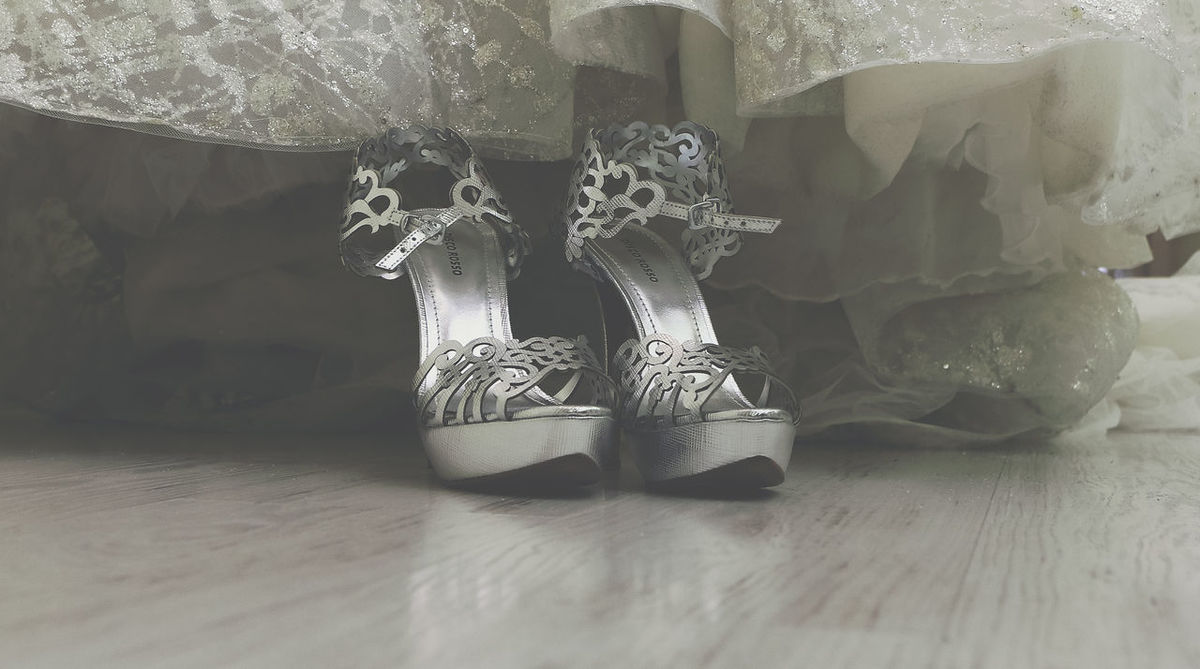 Preperation Indoors  Shoe Wedding Lifestyles EyeEm Eyestoriestudio Sound Of Life Popular EyeEm Best Shots Shoe Wedding Photography Wedding Day Weddingdress Weddingshoes Bride