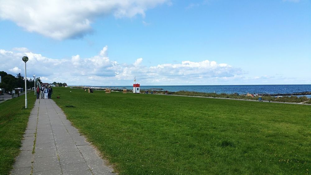 Beach Sea Cloud - Sky Sky Water Vacations Outdoors Grass Sand Landscape Nature Summer Day Horizon Over Water Travel Destinations Beauty In Nature Architecture People Schleswig-Holstein Heidkate Kalifornien Probstei Nautical Vessel Holm Scenics