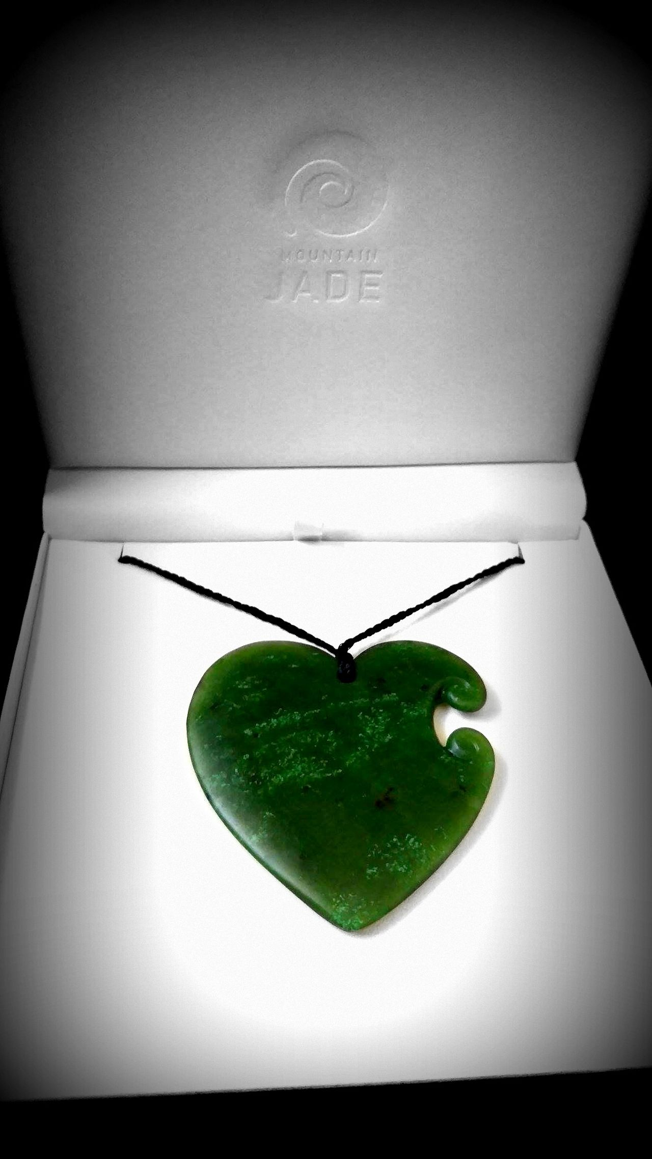 Close-up Green Color Green Stone Heart ❤ Jewlery Maori Necklace Valuable