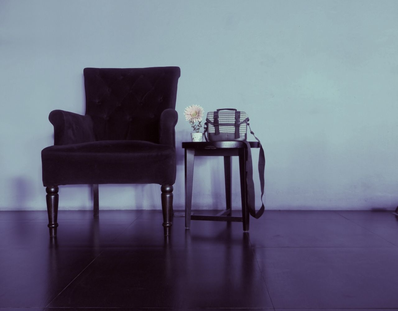 chair, indoors, home interior, table, no people, furniture, seat, flower, home showcase interior, day