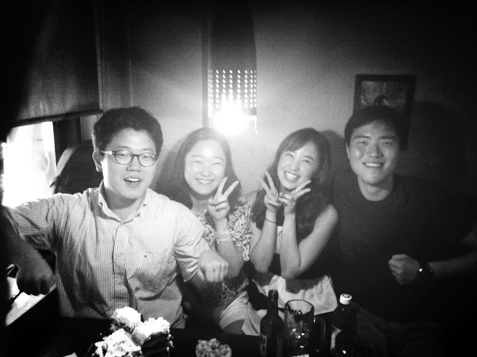 with my friends. Hite Jack is the pub in Sinchon-dong.