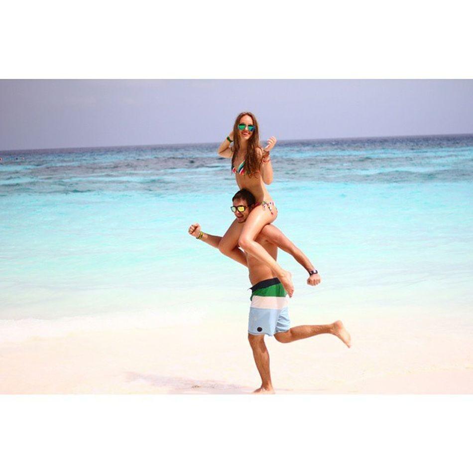Мы сегодня были на райском острове Tachai, голубая прозрачная вода и белоснежный песок, как мука.. Тайланд такой разный😀👍Thailand Happy люблюмужа Tachai любовьнаострове