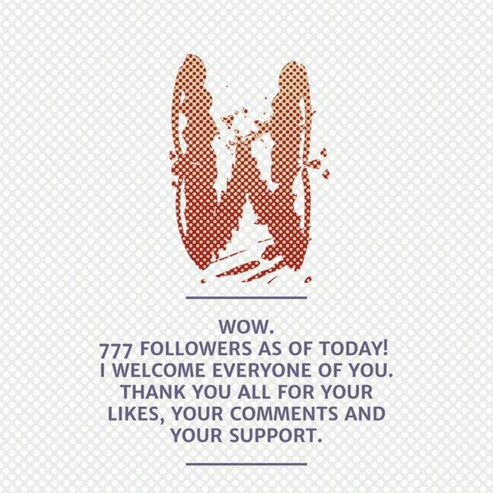 777 Followers . That is just great. Thanks  Danke  Merci Muchas Gracias Många Tack Mahalo Arigato Chokrane Grazie. Created withNotegraphy . When you like my Work and Photos feel free to Followme .