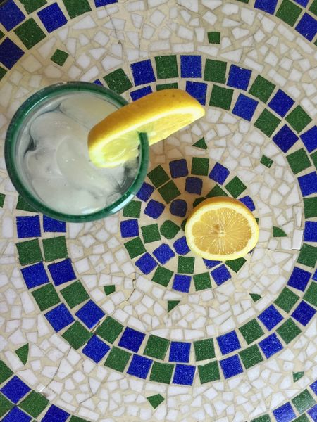Circles Lemons Quenchyourthirst Thristy Tile Tile Art Table Top Still Life Still Life Photography Stillife StillLifePhotography Glass Of Water Circles Circles In Circles