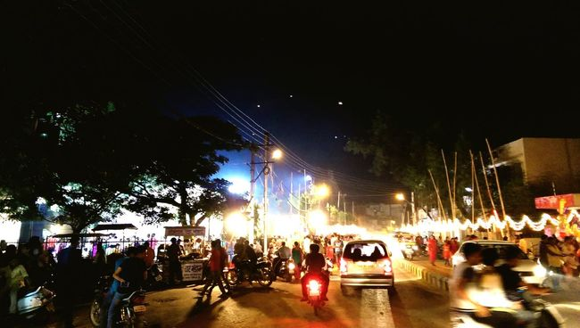 Durga Puja 2015 Night Lights Festive Mood Festive Lights HTC_photography Mobile Photography Crazy Moments Mayhem  in Bilaspur India