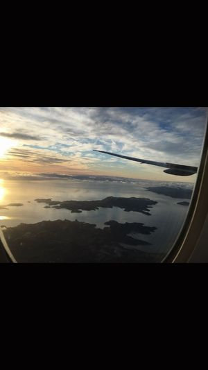 Approach into Auckland Airport Sky Plane Airnewzealand Cloud - Sky Nature Scenics Travel Sunset Beauty In Nature No People Landscape Outdoors Water Day First Eyeem Photo