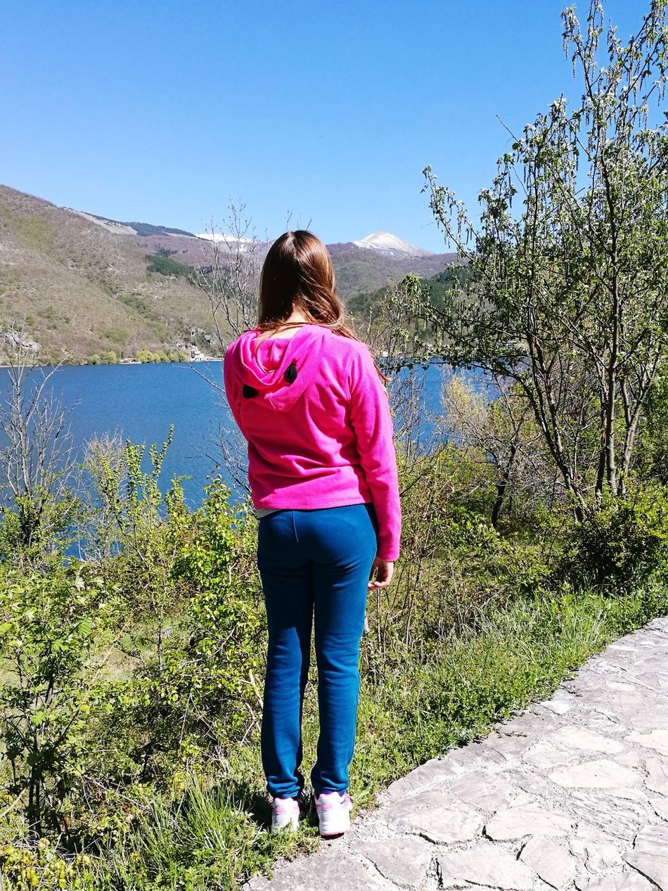 Nature Day Outdoors Clear Sky Young Adult Sky Countryside Panoramic Landscape Beauty In Nature Beautiful View Lakesideview Mountain Lake Beauty Freedom Spring