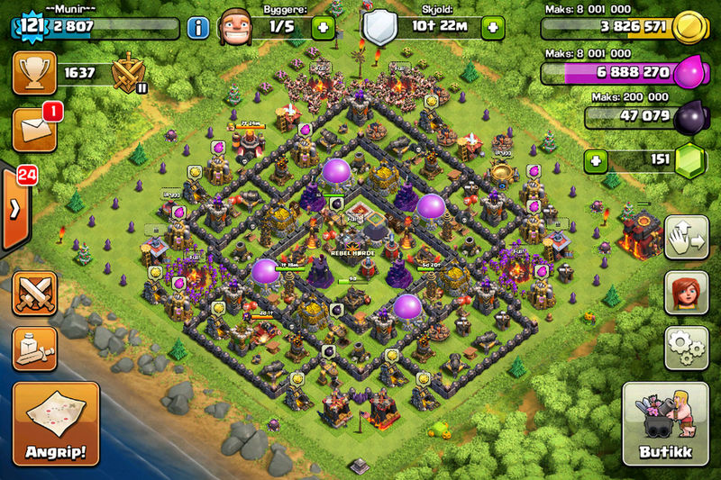 Playing Games Videogames Clash Clash Of Clans Clashofclans Loots