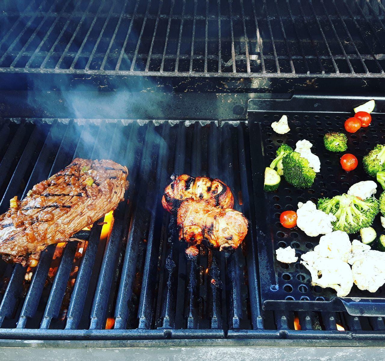 Outdoors Barbecue Food Freshness BBQ BBQ Time Bavette Legume Vegetables