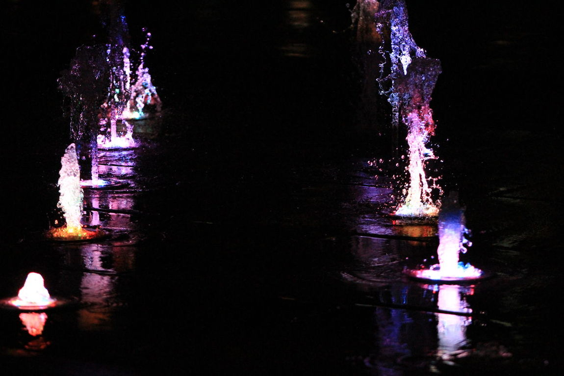 Costa Rica Fountains Illuminated Lightsonthewater Motion Night Outdoors Road Water