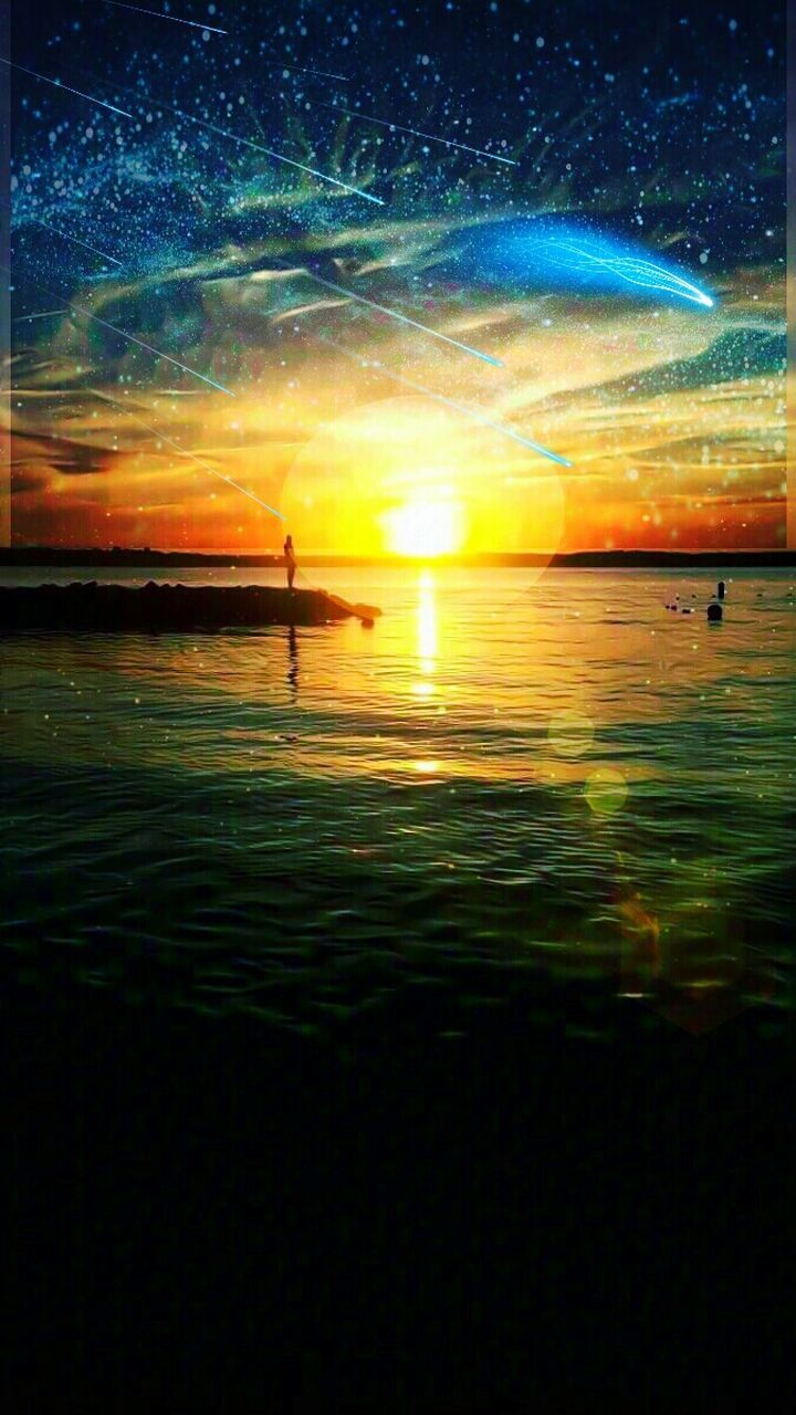 sunset, nature, reflection, beauty in nature, water, no people, outdoors, scenics, tranquil scene, tranquility, sea, sky, day