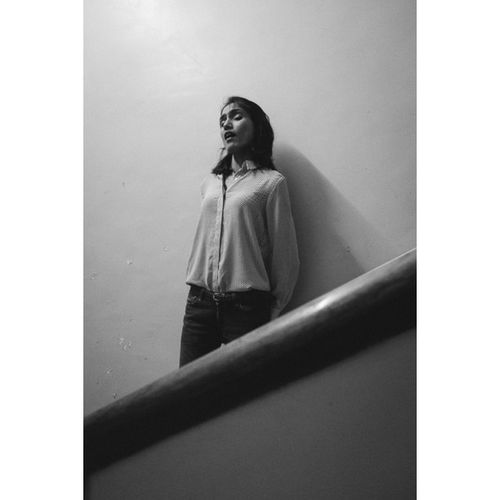 Practising in the stairwell Indiansoprano @fayemonteiro takes a moment to get the notes right at the Rehearsal for a Westernclassical Recital at the Littletheatre at the NCPA , Mumbai Soprano Musician Fuji Fujifilm Xe1 Portrait