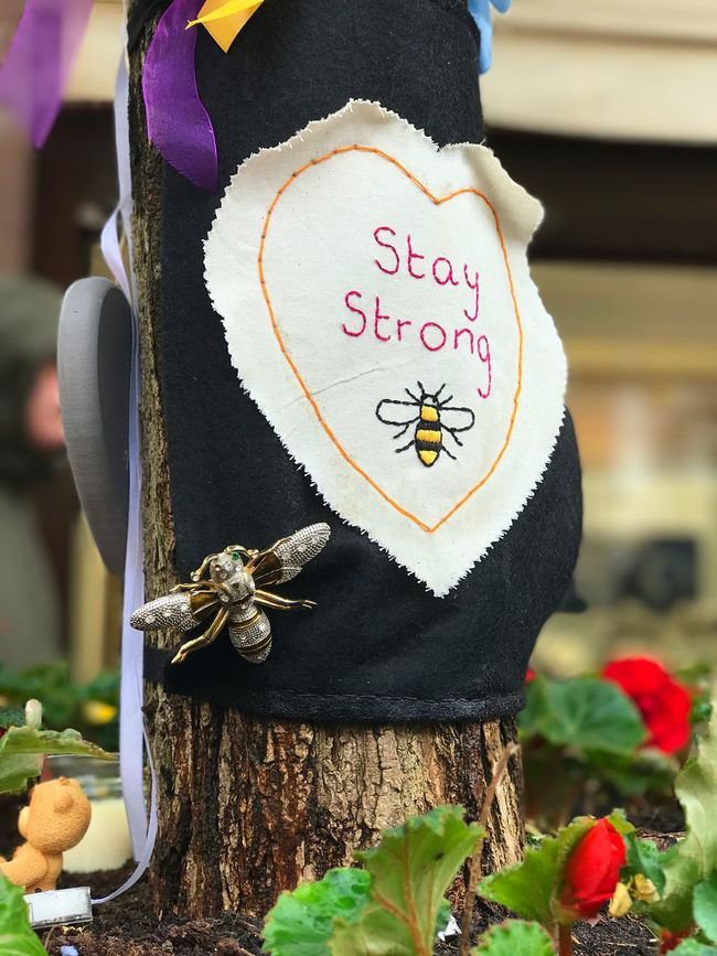Celebration Focus On Foreground Close-up No People Outdoors Day Manchesterattack Tribute Emotion Staystrong One Love Strength Place Of Heart