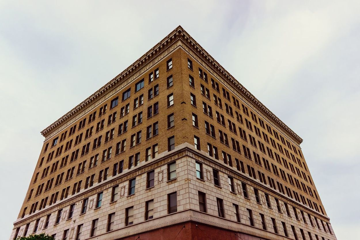 This building was built in the earlier 1900's, although the facade has been updated since, it still resembles the original. This type of classic Masonry is very prominent in Downtown Fresno , it's quite literally every buildings look, and to be honest, it's beautiful in its own manner. However, over the years slowly but surely the colors have faded, the marble has softened and the tiles have faded, yet, maybe that is what gives this place the character, the dirt, the grim, it gives the city character, it makes us question what put that mark there? Who? The city has a certain charm, it's garnered it's own spirit, and beauty lies everywhere, it just takes a little searching. Architecture Looking Up California Urban Geometry Symmetry Vintage Sony Sonyalpha Canonphotography Sony A5000