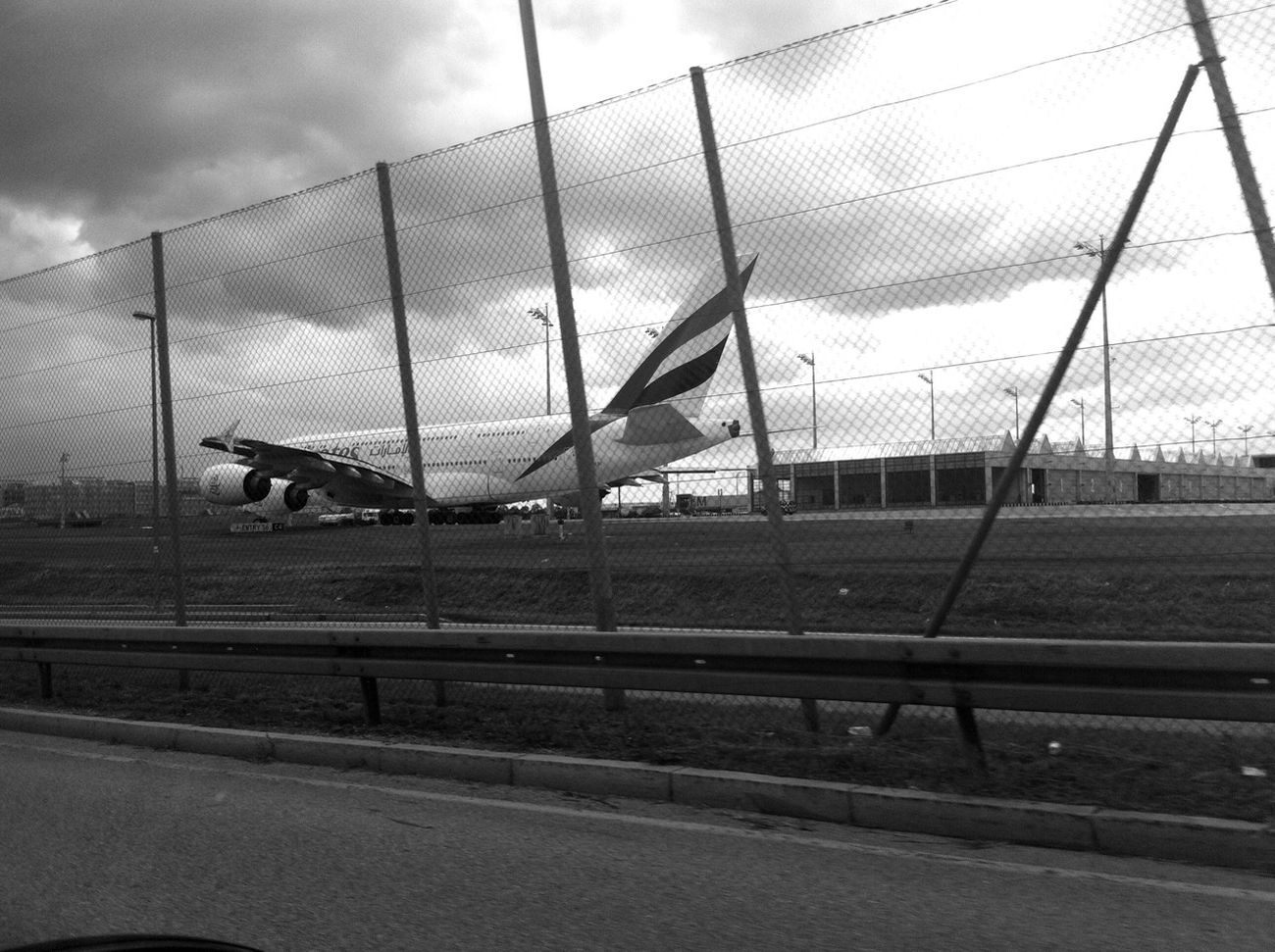 I finally got a snapshot of an Airbus 380! Wow, that plane is huge! I also got a new twitter account: @ghitahero follow me if you want. I tweet about photography and creative stuff. www.twitter.com/ghitahero Blackandwhite Plane Monochrome A380