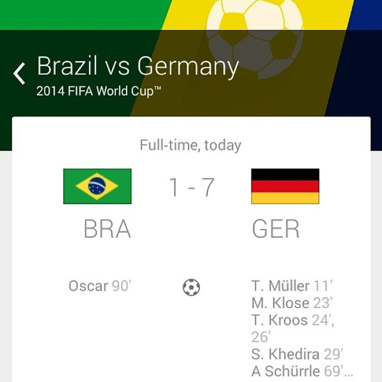 Wuhhhuuuu Germany Amazing Wellplayed Brazil 7up klose neuer Gehen_Wir Deutschland ??