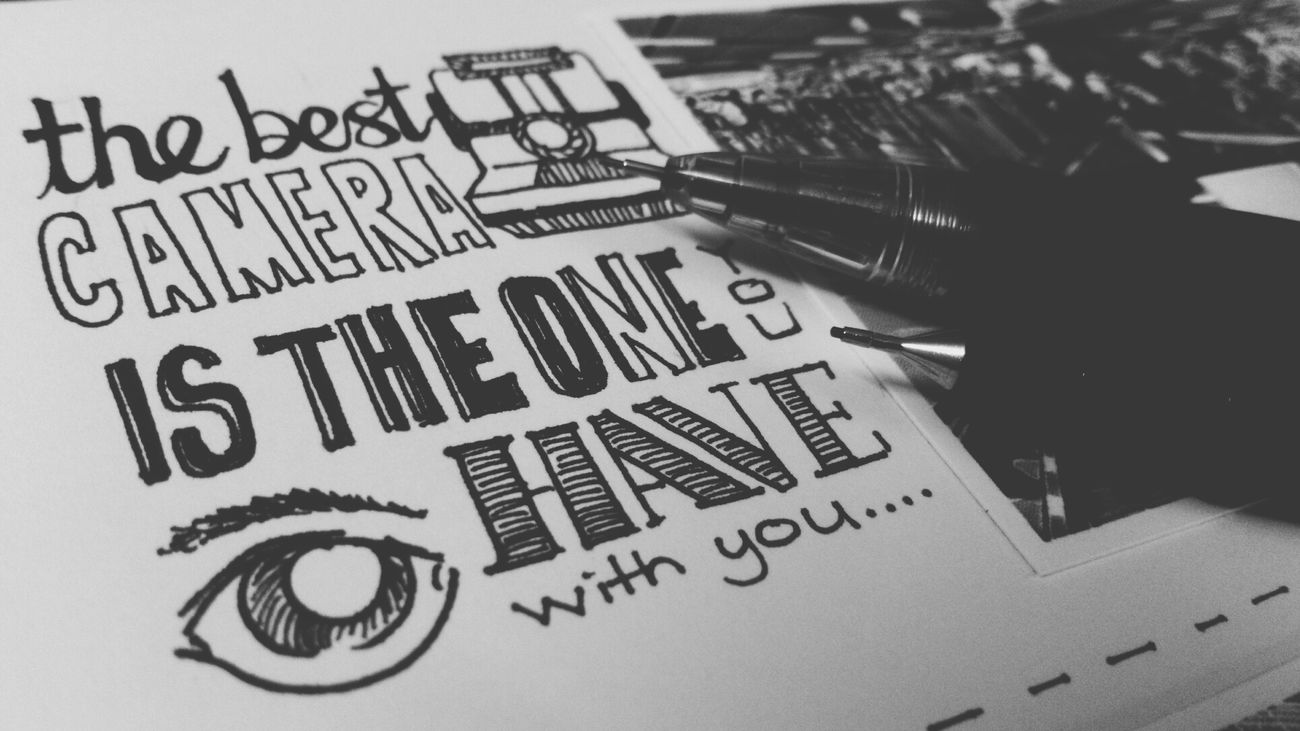 The best camera the one you have with you. Doodle ¡Eyeem_addict! EyeEm Best Shots - Black + White Sketching And Stuff