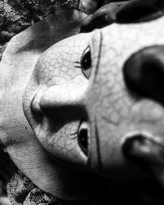 Close-up Doll Eye Souless Blackandwhite