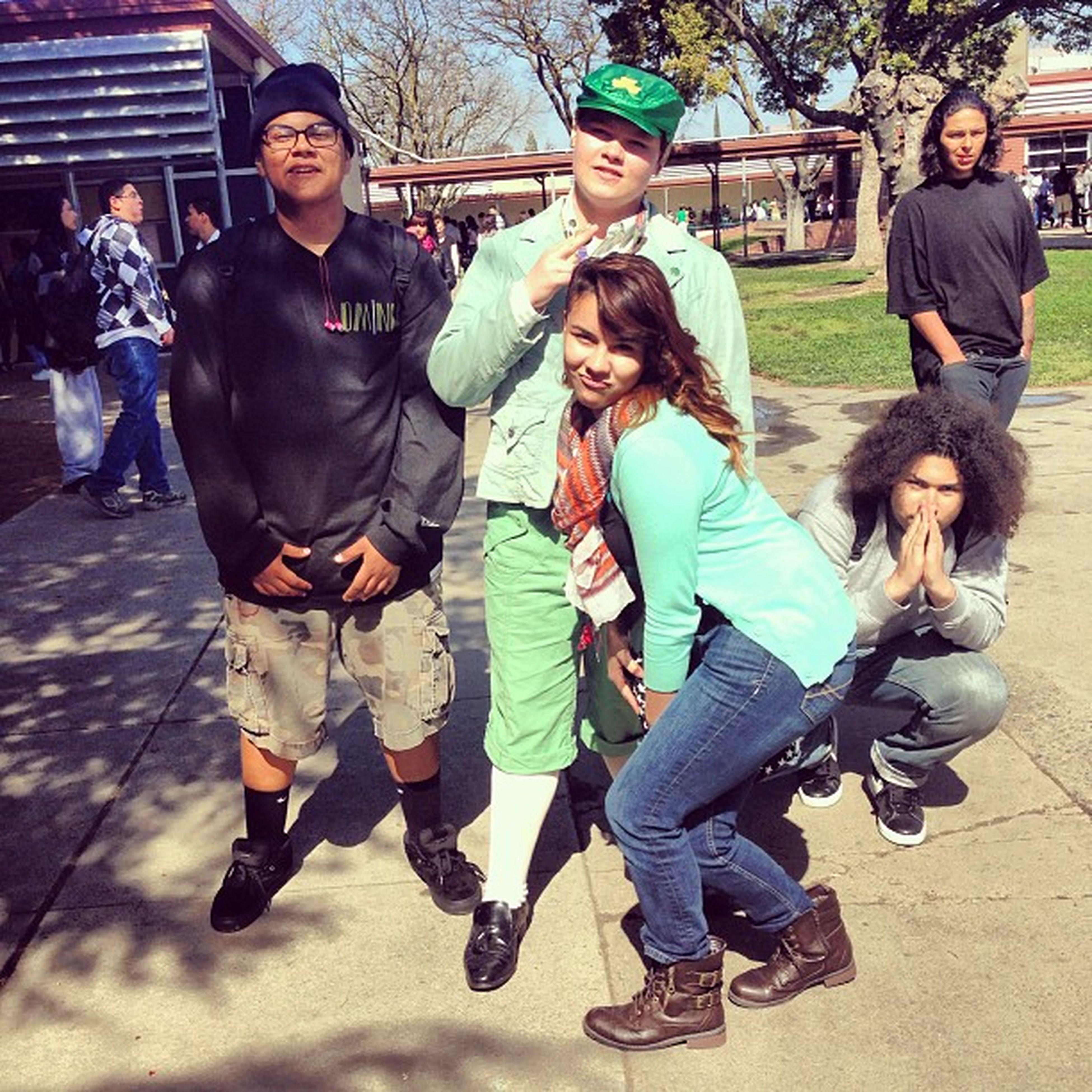 Me @swellswellswell and Valencia with a leprechaun Squat PraiseLeprechaun