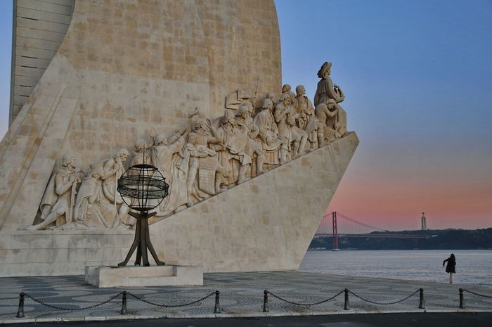 Padrao5 Afterglow Architecture Astrology Sign Built Structure Day History Human Representation Lisbon No People Outdoors Padrão Dos Descobrimentos Sculpture Sky Statue Travel Travel Destinations