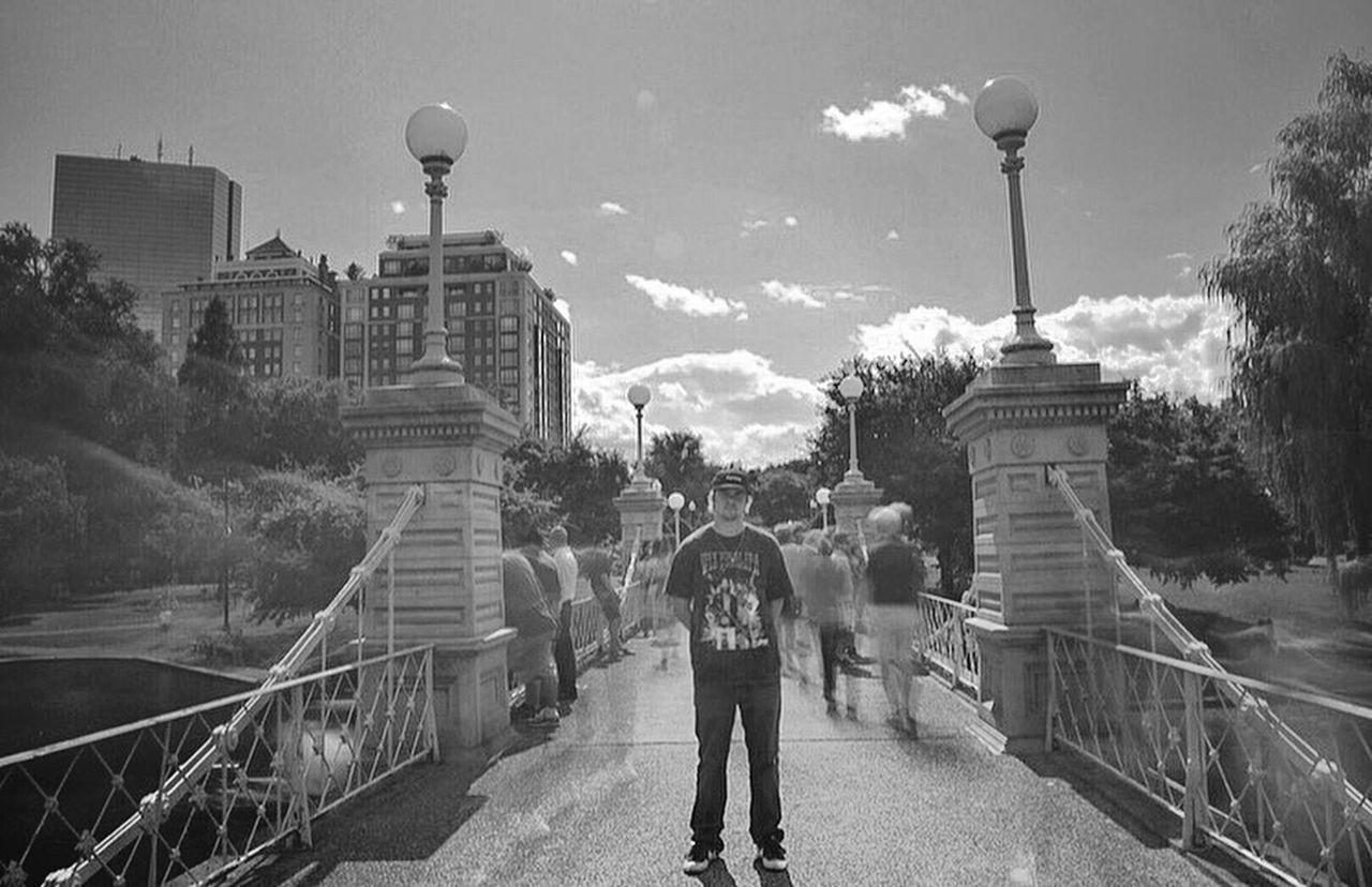 Long Exposure Boston Common Bridge Park Blackandwhite Motion Blur Capturing Motion