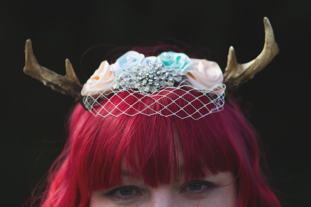 Marie's awesome antler headpiece Wedding Photography Accesories Handmade Accessories Red Hair