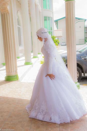 Wedding Dress Celebration Bride Wedding Life Events Muslimwedding Stillife Trinidad And Tobago Caribbean Beautiful Lifestyles Happiness Portrait Architecture