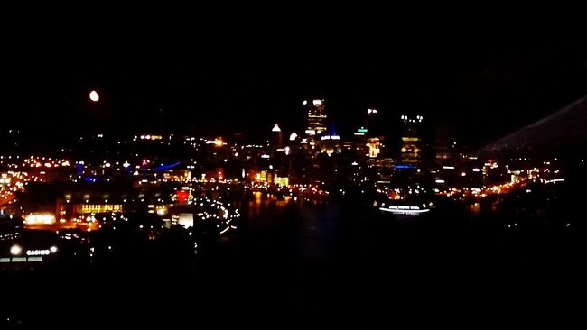 Cityscapes Pittsburgh Life Pittsburgh Citylife Cityoverlook Nightview Northshorepittsburgh Downtownpittsburgh Moonlight