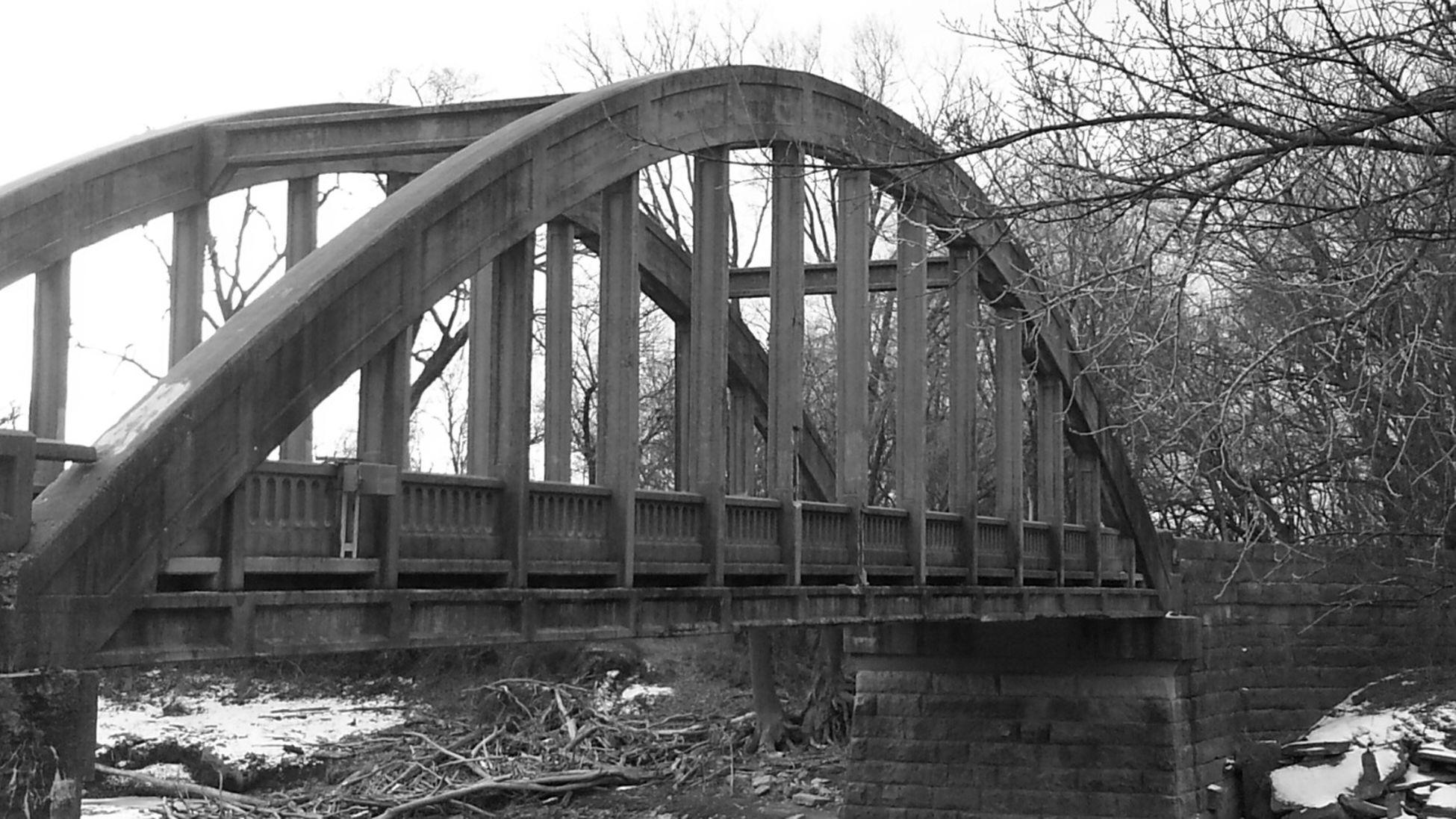 Arch Bridge across Cottonwood river in Emporia, Ks Bridge Arch