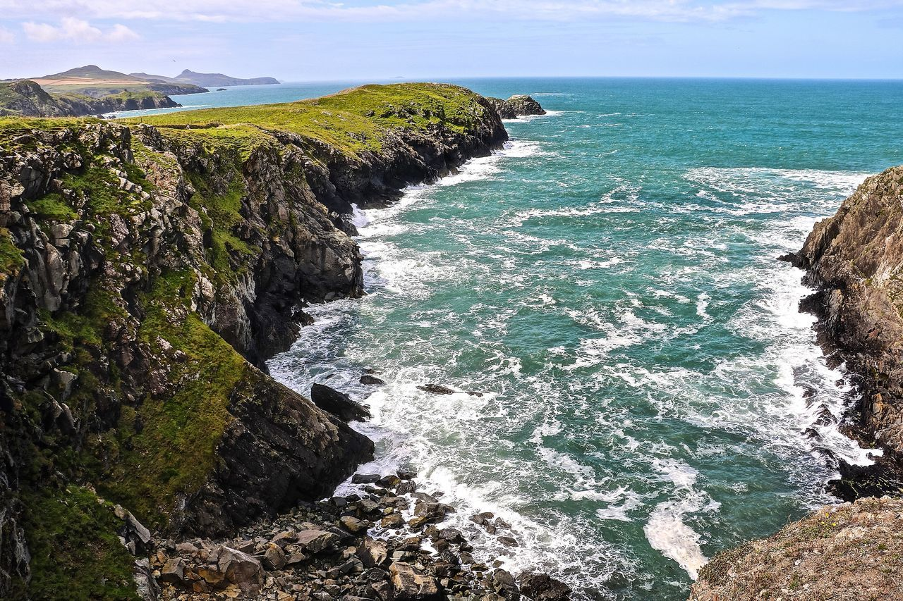 Beauty In Nature Coastline Horizon Over Water Nature Pembrokeshire Pembrokeshire Coast Scenics Sea Wales Wales You Beauty Wales❤ Water
