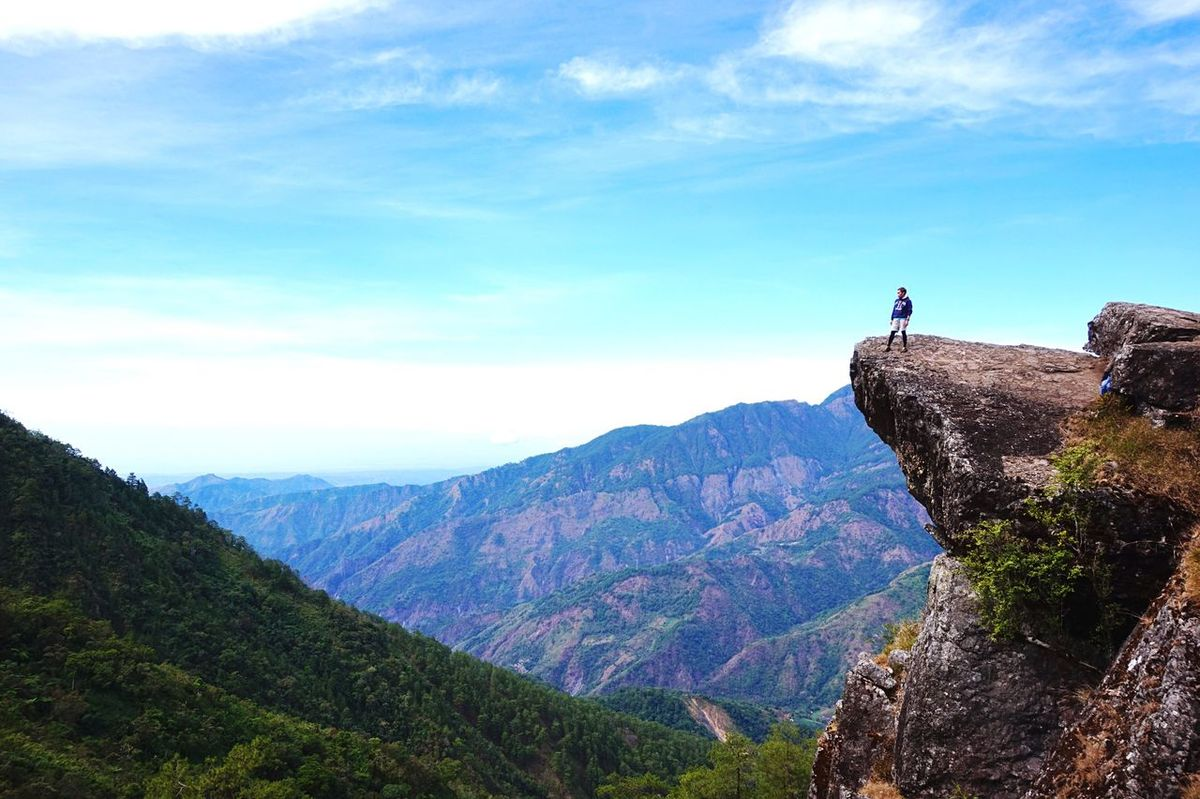 At the edge. Real People Leisure Activity Nature Mountain Beauty In Nature Scenics Rear View Lifestyles Tranquility Tranquil Scene One Person Full Length Outdoors Hiking Adventure Mountain Range Landscape Miles Away Authentic Authentic Moments Eyeem Philippines One Man Only Standing Climbing Mountain View