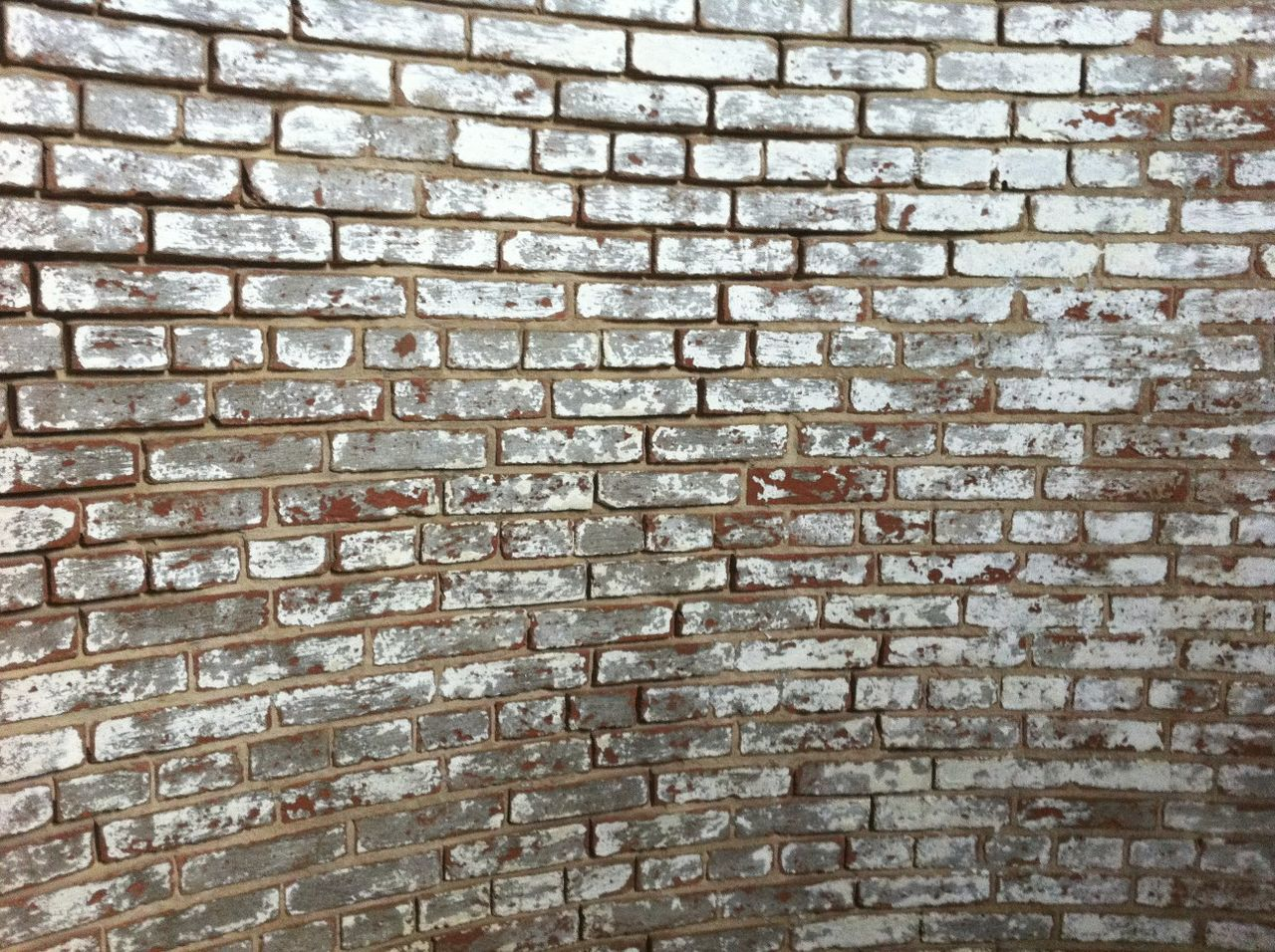 Abstract Arrangement Bad Condition Brick Wall Cobblestone Curved Wall Day Design Full Frame Geometry Grout Historic Lighthouse Wall No People Old Pattern Rectagular Shape Rectangles Red Brick Textured  Wall Wall - Building Feature White Washed